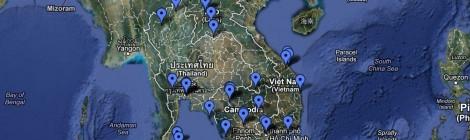 Routenplanung Thailand, Cambodia, Vietnam, Laos