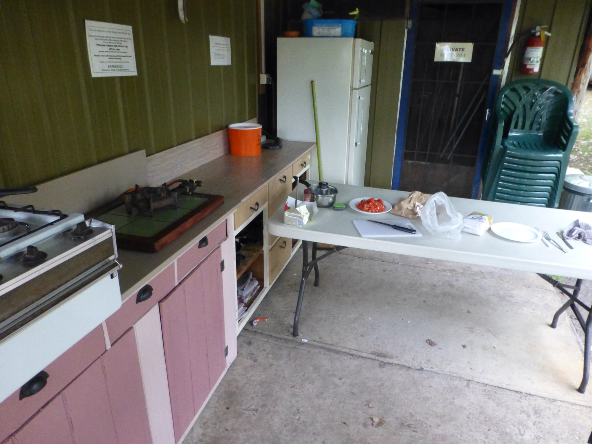 Backpacker Küche